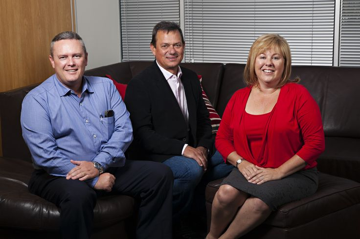 Rob Rees (COO), Dennis Lamberti (Development Director) and Jackie Carroll (CEO) at Media Works