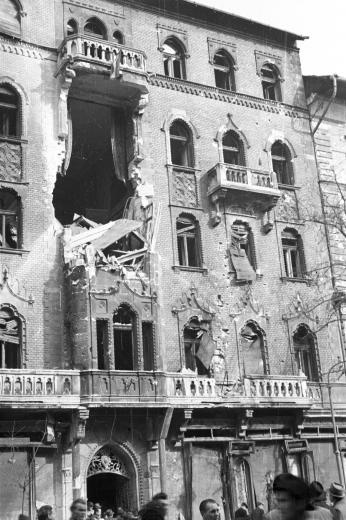 Budapest in ruins, 1956 Hungarian Revolution
