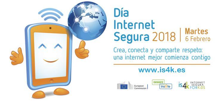 """🛡📶 """"Crea, Conecta y Comparte Respeto: Una Internet Mejor Comienza Contigo"""" la campaña de @is4k @incibe para el Día de Internet Segura #SID2018 #SaferInternetDay #DiaInternetSegura 📆 6 de Febrero   👉🏻 https://www.is4k.es/programas/dia-de-internet-segura"""