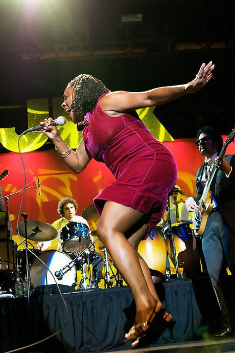 Sharon Jones and the Dap Kings, one of the best shows I've ever been to, she's so much fun and such an amazing talent