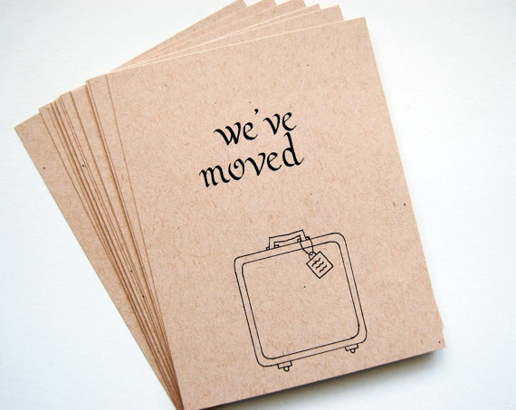 Simple moving announcements to make your change of address easy! www.homemovingcards.com