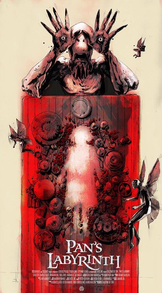 Jock Pan's Labyrinth Variant Movie Poster Mondo Print Guillermo Del Toro SDCC