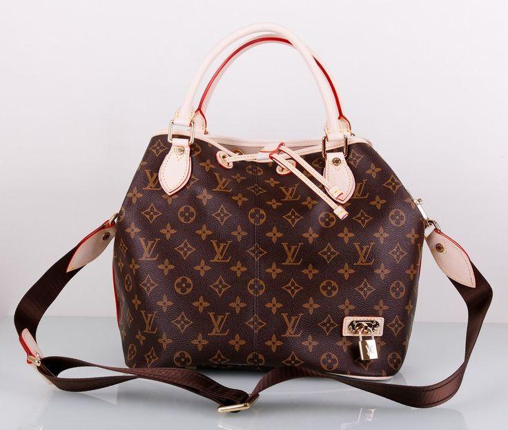 Сумка LV (Louis Vuitton) из фирменного материала LV и натуральной кожи. Рисунок - монограмма. Размер 30х28х19см #19209