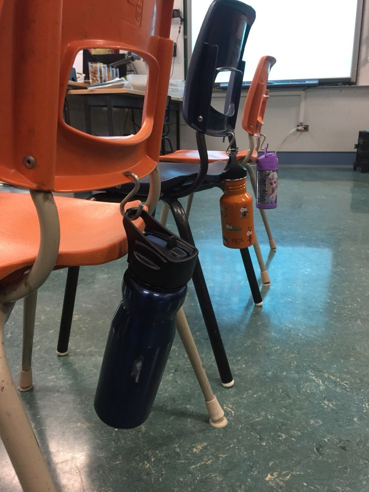 Classroom Hook Ideas : Water bottle holder for classroom drill a hole in the