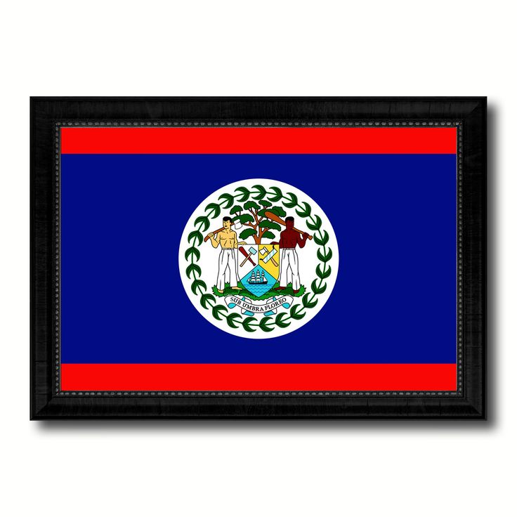 Belize Country Flag Canvas Print, Picture Frame Home Decor Gifts Wall