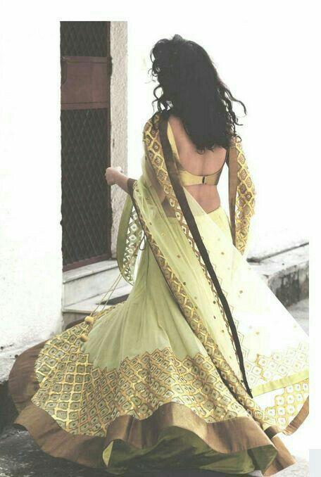 Velvet green blouse/lengha set with green dupatta All green