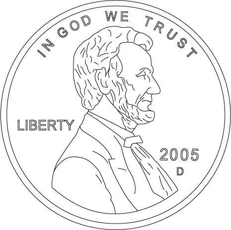 Coloring Pages Coins
