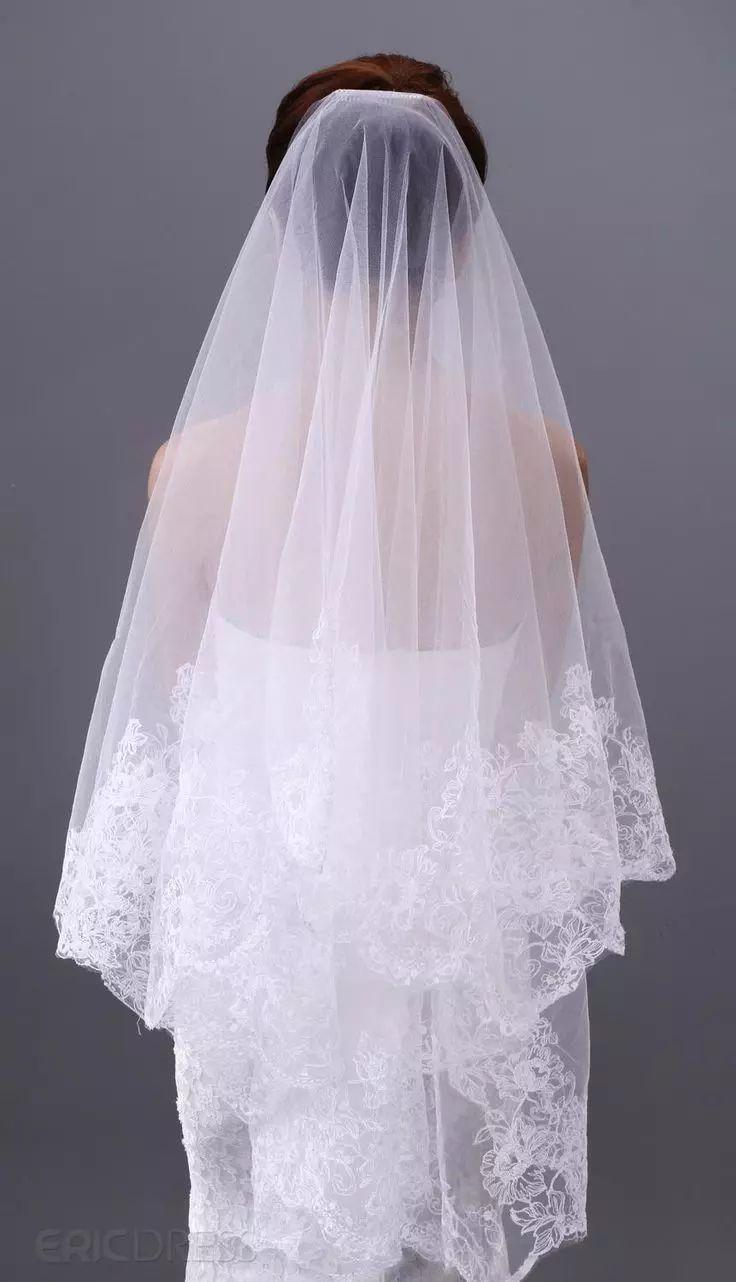 Luxury Zuhair Murad Wedding Veils Finger Length Veils Lace Applique 1 Layer Applique 2015 Cheap Bridal Veil 2016 Arabic Mantilla Black Birdcage Veil Bridal Veil Plant From Everbridal1989, $16.09  Dhgate.Com