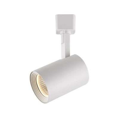 Hampton Bay White Dimmable LED Cylinder Track Lighting Fixture 1604 WH At  The Home