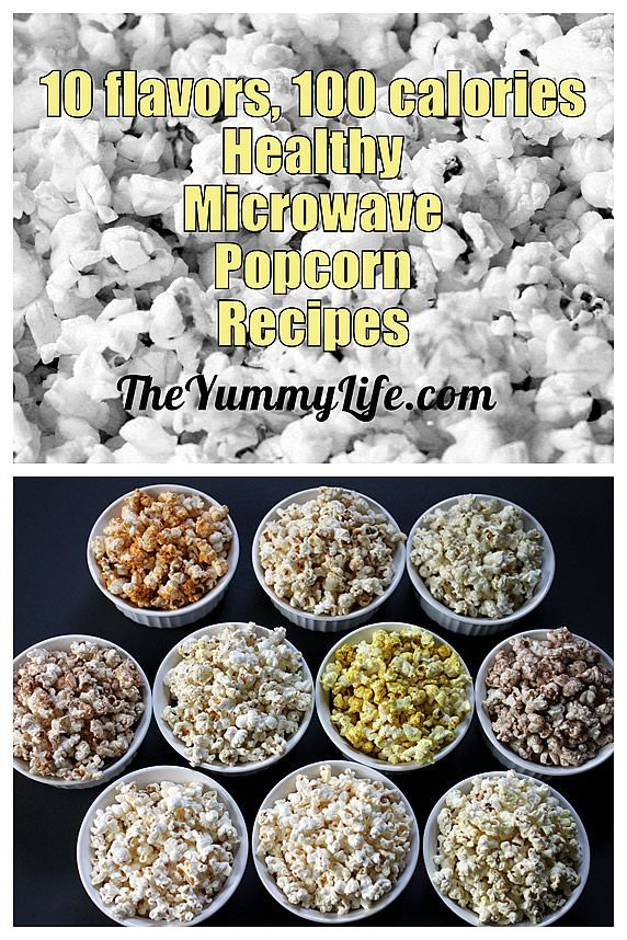 Healthy Microwave Popcorn -- 10 sweet & savory flavor recipes using coconut oil; 100 calories (or less!)