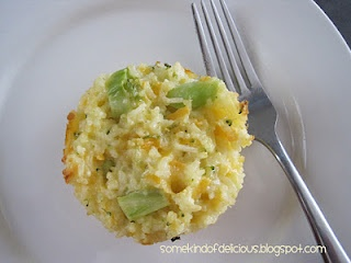 Cheesy Broccoli & Rice Cups. Can't go wrong with cheese and ranch dressing. Plus, it's a good way to get your kids to eat broccoli. Yum.
