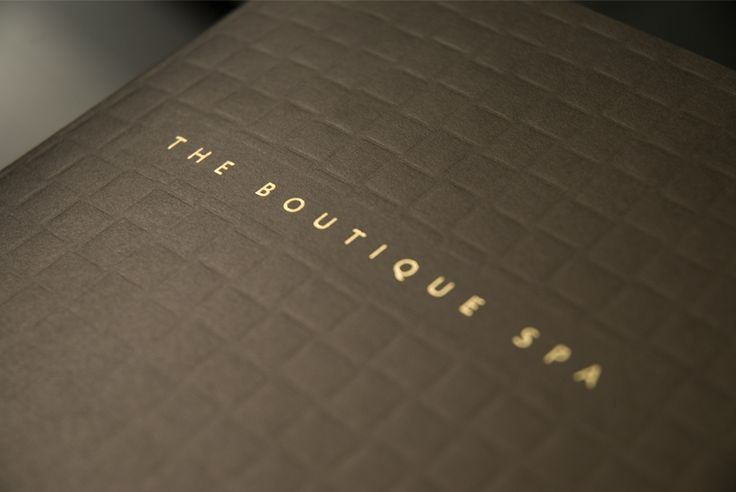 Brochure cover debossed and foil blocked. Special mix of metallic ink. By Sama Studio Ltd.