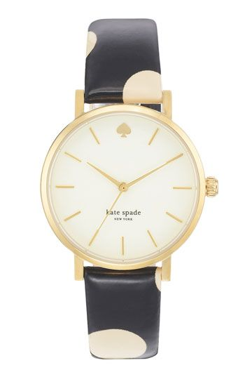 kate spade new york 'metro' polka dot strap watch, 34mm available at #Nordstrom