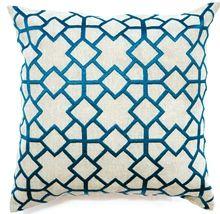 Diamond Maze Teal Cushion Boyd Blue