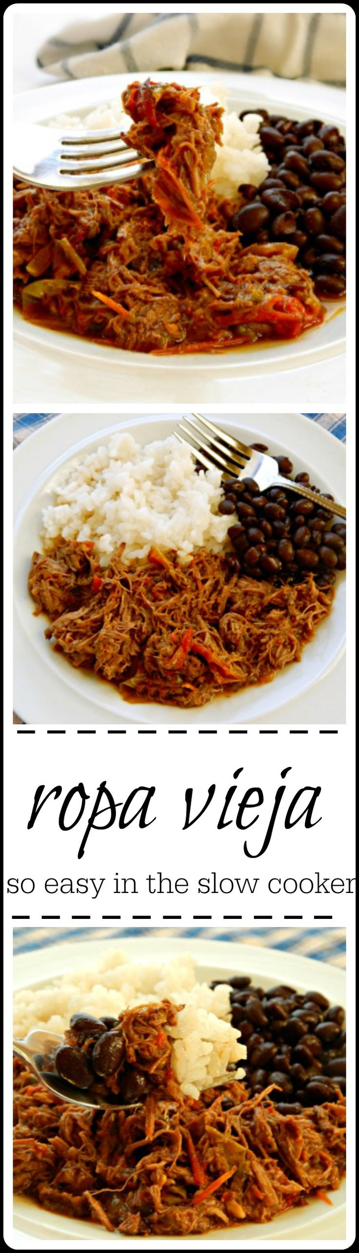 Ropa Vieja - National dish of Cuba. Beef cooked with peppers and onions until it's beautiful shreds.