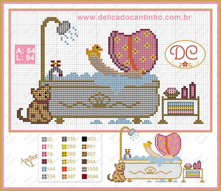 http://www.delicadocantinho.com.br/2016/04/grafico-ponto-cruz-sunbonnet-no-banho.html