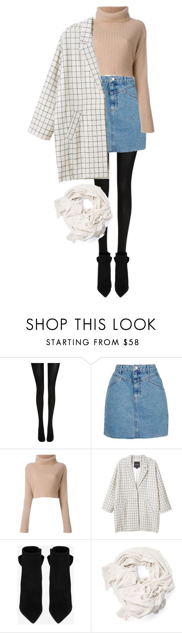 """""""Bez tytułu #227"""" by keluna ❤ liked on Polyvore featuring Wolford, Topshop, Valentino, Monki and Yves Saint Laurent"""