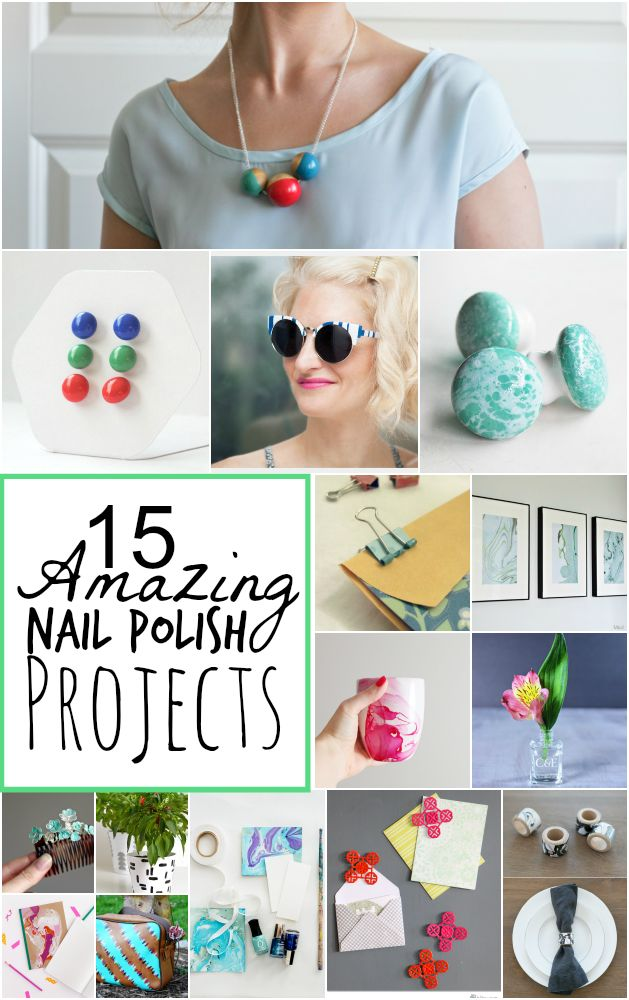 16 best images about crafts nail polish on pinterest for Crafts using nail polish