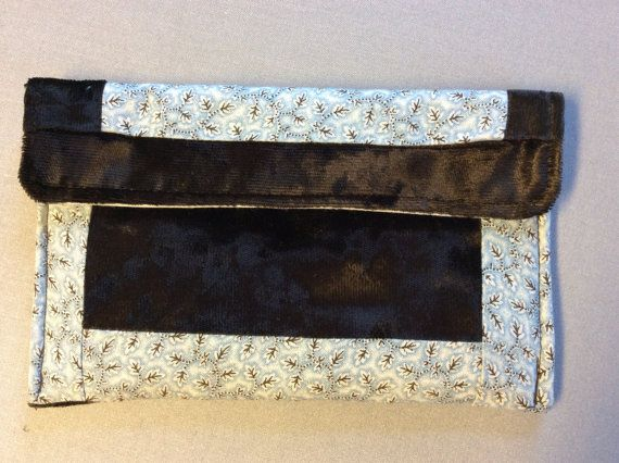 Small clutch small pouch Velvet trimmed by MiddleSisterWorks