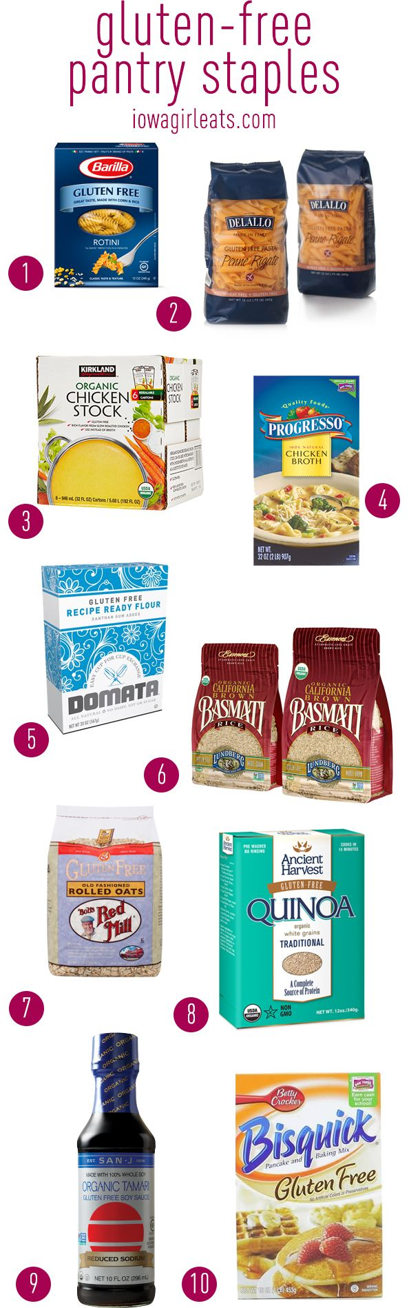 My favorite gluten-free products including snacks, pantry staples, and meats! #glutenfree | iowagirleats.com