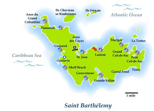 St. Baths map