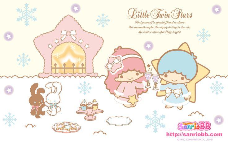 Little Twin Stars Wallpaper 2009 十二月桌布 日本 SanrioBB Present