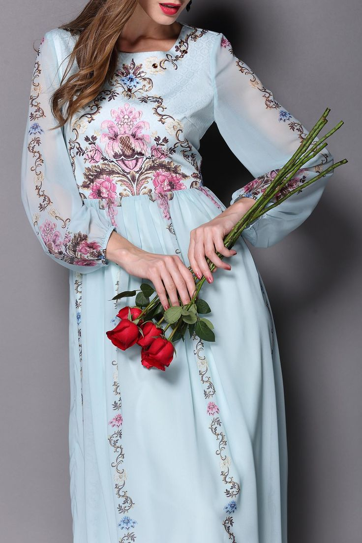 Pleated Maxi Floral Dress