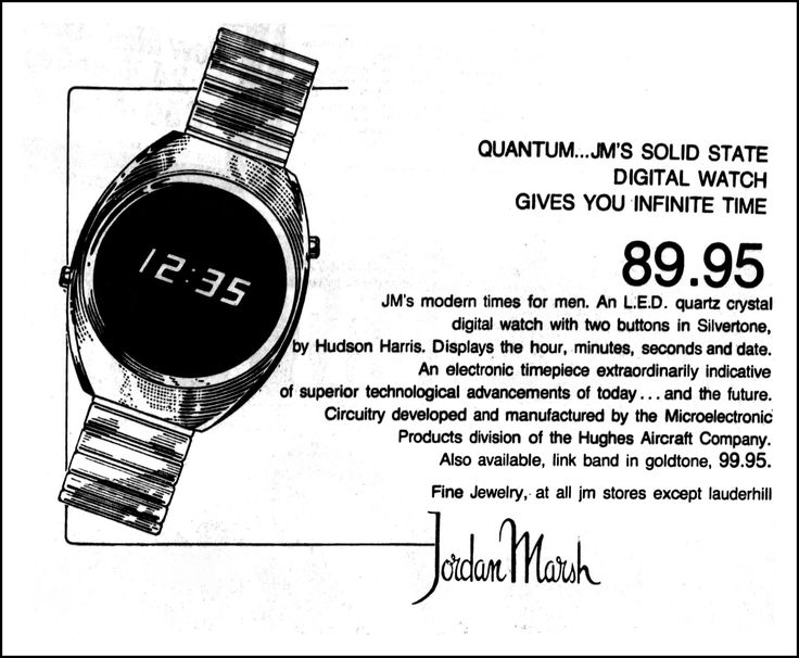 Advertising For Hudson-Harris Quantum LED Watch In The