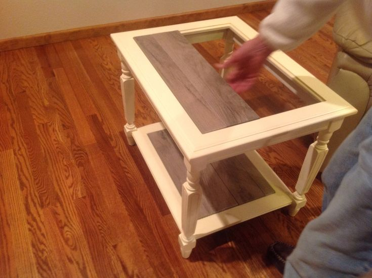 End Table Makeover Painted With Americana Chalk Paint