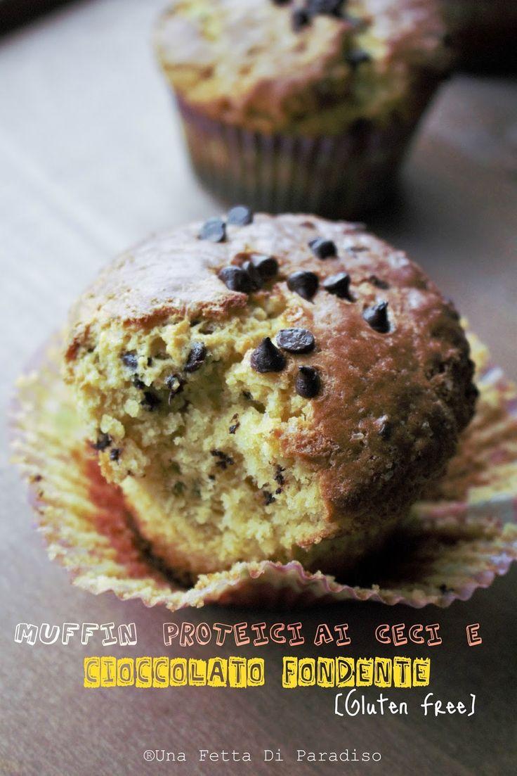Una Fetta Di Paradiso: Muffin Proteici Ceci E Cioccolato Fondente [Gluten Free]