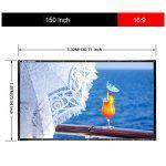 awesome Excelvan – 150 Zoll Zusammenklappbar Beamer Leinwand für Beamer Projektor (150 Zoll, 16:9 Format, mit hängendem Loch, HD, Heimkino, Klassenzimmer, Konferenz, Präsentation, Outdoor) Check more at https://elektronik.gq/shop/562066-elektronik-and-foto/excelvan-150-zoll-zusammenklappbar-beamer-leinwand-fuer-beamer-projektor-150-zoll-169-format-mit-haengendem-loch-hd-heimkino-klassenzimmer-konferenz-praesentation-outdoor/