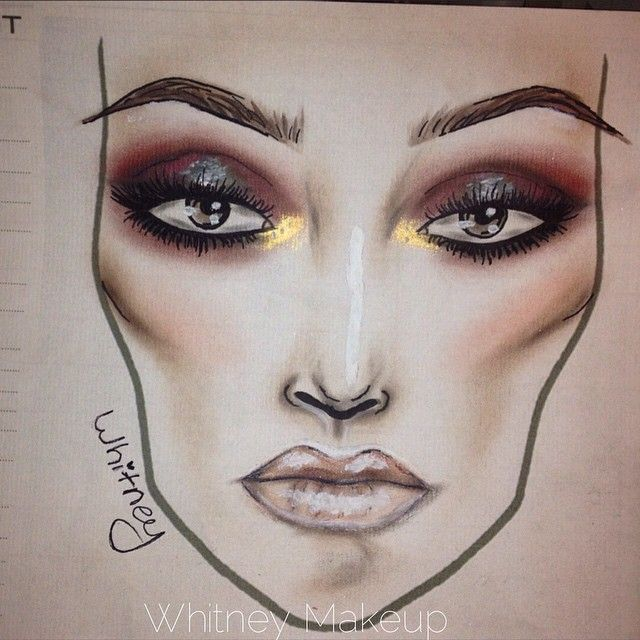 Whitney  @whitneymakeup Facechart for thi...Instagram photo | Websta (Webstagram)