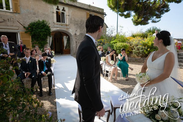 Outdoor Wedding Ceremony in Portofino Amazing views over the harbor and Italian Riviera Contact us for information: info@italianweddingplanners.com