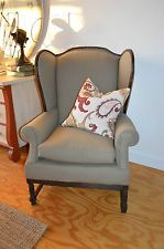 Antique Vintage Ethan Allen Wing Back Chair New