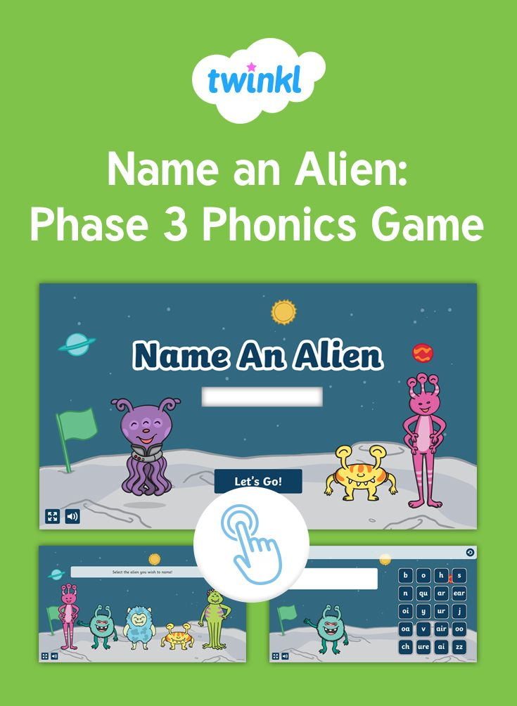 Name an Alien: Phase 3 Phonics Game - Explore Phase 3 phonics with our fun interactive game.