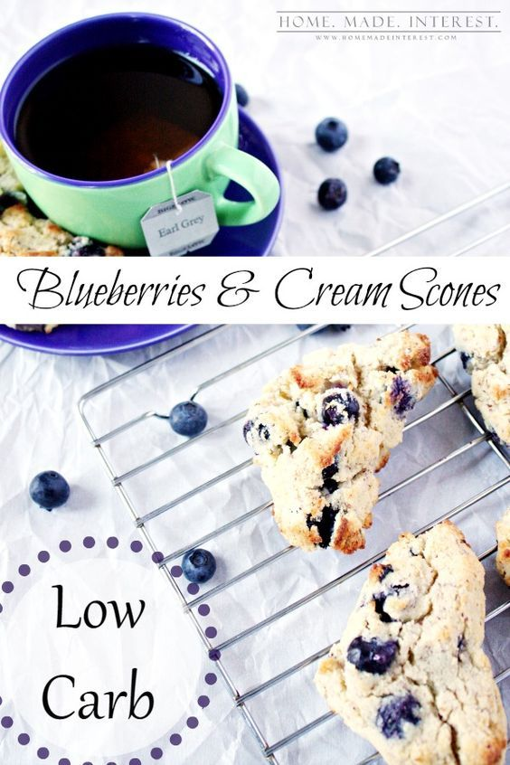 Low Carb Blueberry Scones | This easy recipe is an awesome low carb recipe that is the perfect low carb substitute for blueberry scones. We use almond flour instead of regular flour and you won't even notice the difference! It's a great addition to any low carb diet.