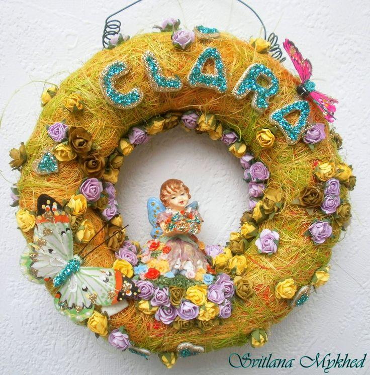 """Couronne avec prenom """"CLARA"""" (personnalisables) . Création unique. : Décoration pour enfants par perles-et-couronnes"""