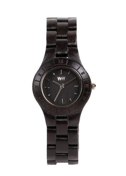 Beautiful eco friendly WeWood watch exclusively for women - the moon black is made from 100% wood and features miyota movement. $120 | WeWood New Zealand.