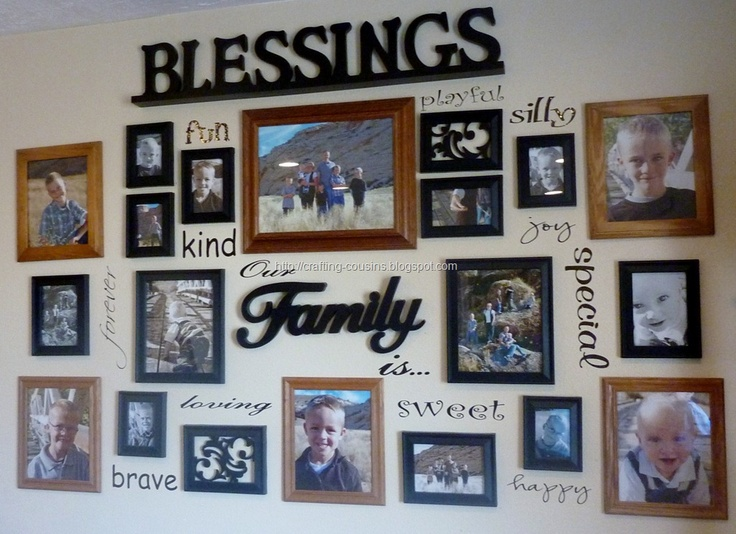 Best 25 family wall photos ideas on pinterest galleries for Collage mural ideas