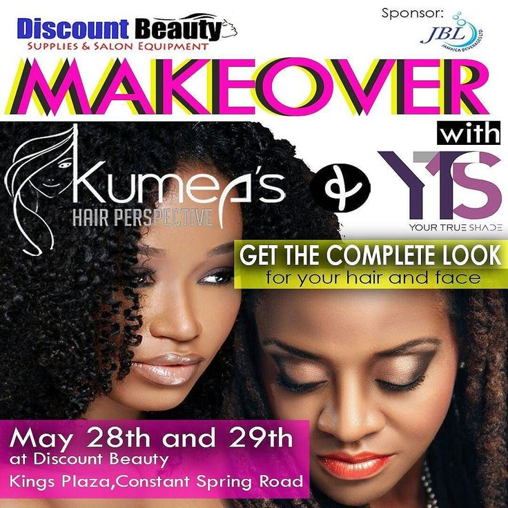 Are you ready? Join Your True Shade Jamaica's first Mineral and natural make up line and Kumea's Hair Perspective May 28th and 29th at Discount Beauty Supplies in Kings Plaza.  Your Shade Make up sessions product demonstration consultations and makeovers begin at 10 am - 6pm. For more information contact us at info@yourtrueshade.com or trueshadecosmeticsja@gmail.com or 876-872-8812. #yts #yourtrueshade #crueltyfree #natural #skincare #healthy #organic #makeupartist #makeup #sensitive #skin…