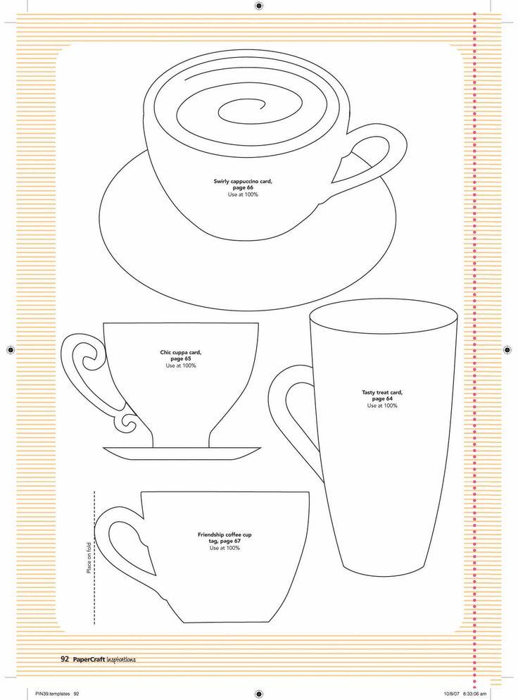 Paper Cup Template ...http://www.pinterest.com/colettescottage/tea-cards-invitations-tea-crafts-etc/