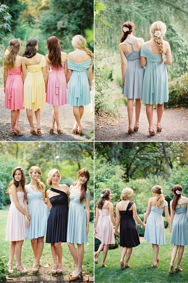 25 cute wrap bridesmaid dresses ideas on pinterest multiway 30 dreamy bridesmaid dresses for your romantic wedding ombrellifo Images