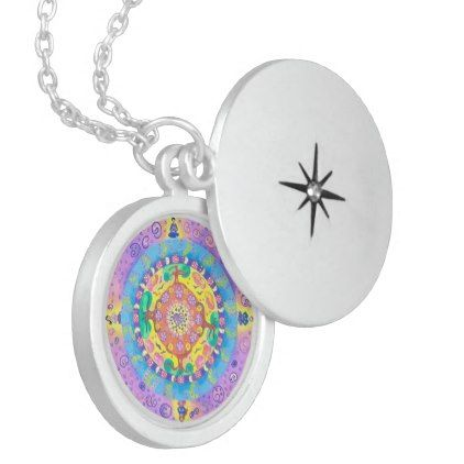 Medilludesign - Mandala Meditation Locket Necklace - jewelry jewellery unique special diy gift present