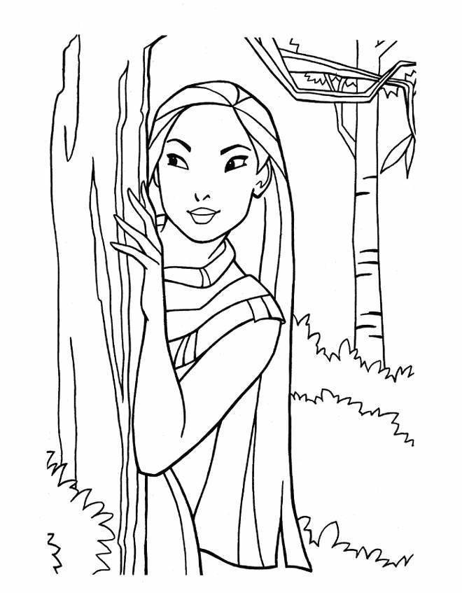 18 Best Pocahontas Disney Coloring Pages Images On Pinterest