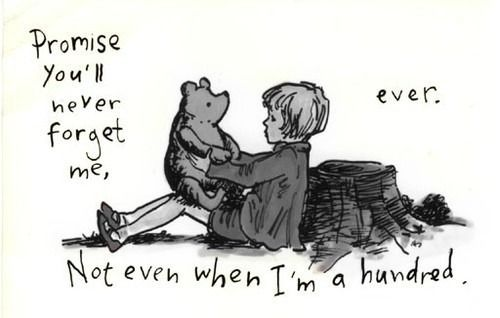 pooh and Christopher Robin