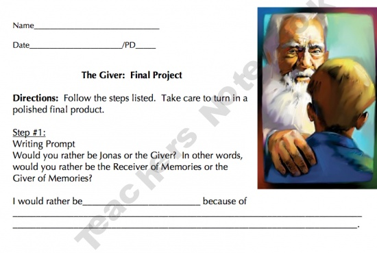 The Giver by Lois Lowry product from FeilsEnglishOneStopShop on TeachersNotebook.com