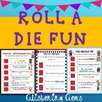 Literacy Games - Back to School - Literacy CentersThis zip folder contains 3 fun filled products: Roll a die games for: All about Me, Sight Words and Guided Reading. These games are great to play first week back at school to actively engage students in class and make learning fun!All about Me - 3 Roll a Die games (2 extra copies Australian version for spelling changes) - includes a variety of activities where students roll a die and complete the matching 'All about Me' activity.