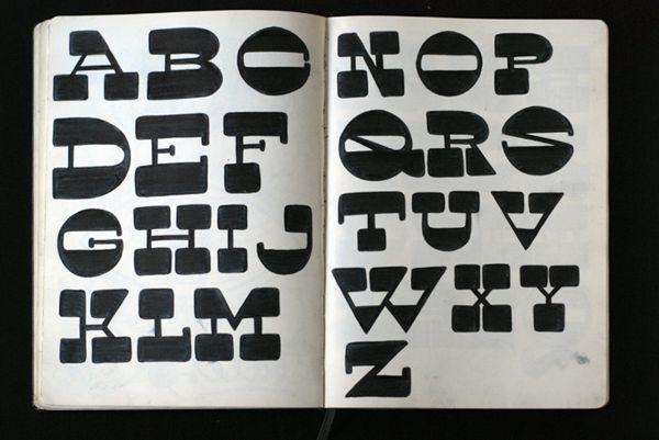 Typographyc scketch books by Simone Giorgio