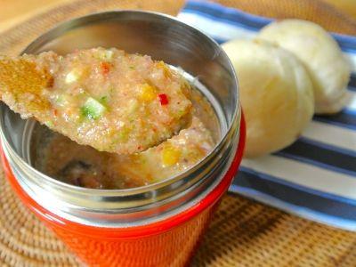 火いらず簡単、野菜の冷製スープ・ガスパチョ弁当
