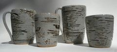 Pottery Whiskey Cups, Birch Design (COMING SOON)